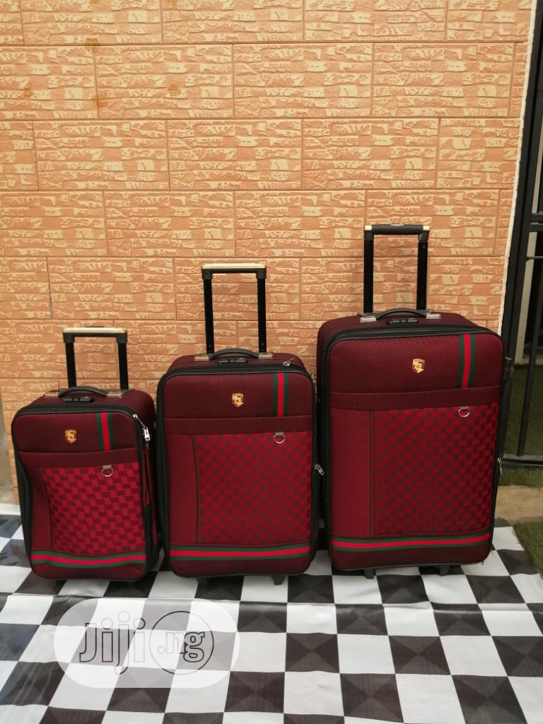 Travel Luggage Bags (3 Sets) of Ox Red Color