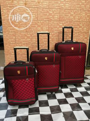 Spinner Wheels Trolley Luggage Bags (3 Sets) Ox Red Color Available | Bags for sale in Lagos State, Ikeja