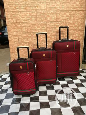 Quality Trolley Travel Luggage Bags 3 - Sets (Red Color) | Bags for sale in Lagos State, Ikeja