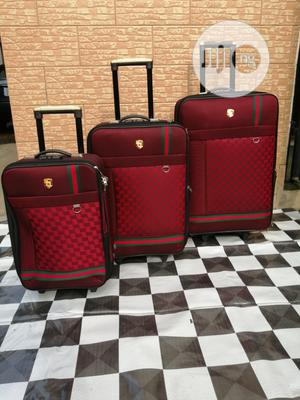 Ox Red Traveling Luggage Sets Of 3 Suite Case Bags | Bags for sale in Lagos State, Ikeja