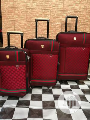 Box Red Gucci Traveling Bags (3 Sets) Trolley Color | Bags for sale in Lagos State, Ikeja