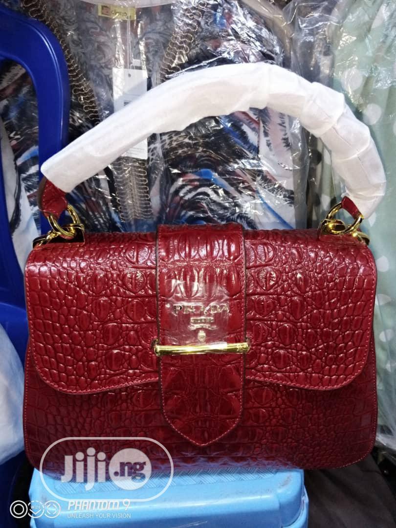 Original Italian Pure Leather Bags by Prada.