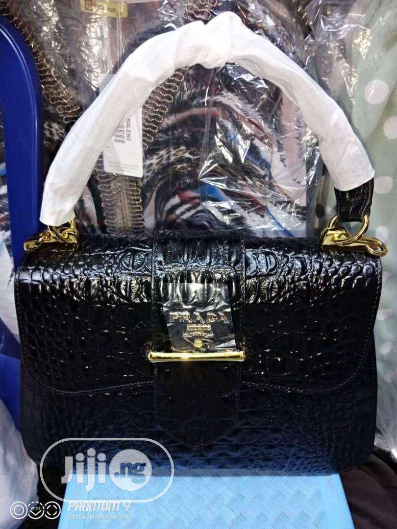 Original Italian Pure Leather Bags by Prada. | Bags for sale in Surulere, Lagos State, Nigeria