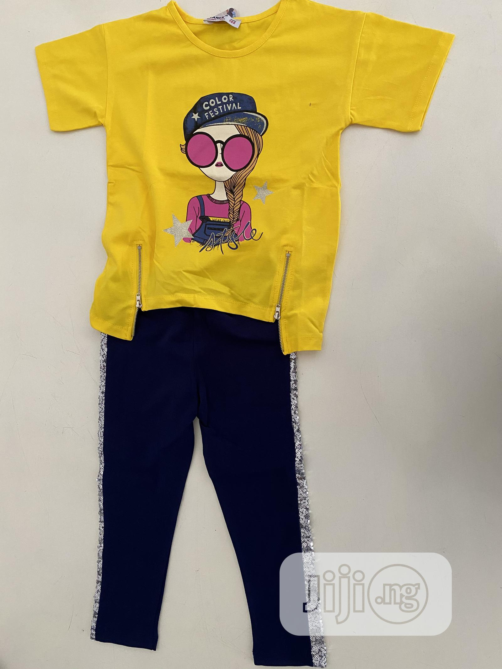 Archive: Trendy Yellow Top And A Sequence Trouser Available For Kids Age 5-10