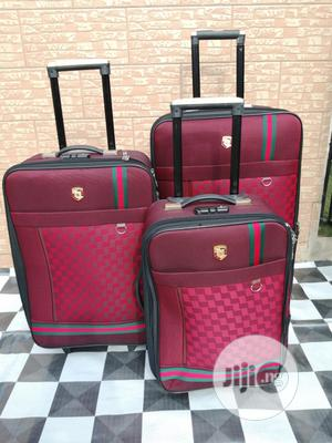 Ox Red Color Trolley Luggage Bags (3 Sets ) for Students | Bags for sale in Lagos State, Ikeja