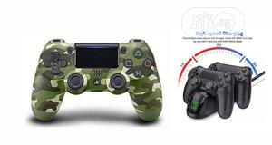 Ps4 Pad Wireless Controller V2 - Camo Green + Fast Charger | Accessories & Supplies for Electronics for sale in Lagos State, Ikeja