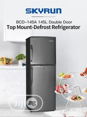 Skyrun 145-Litres Double Door Top Mount Fridge BCD-145A-INOX | Kitchen Appliances for sale in Abuja (FCT) State, Wuse