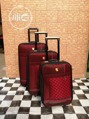 Red Color Trolley Travel Luggage Bags ( 3 Sets) | Bags for sale in Lagos State, Ikeja