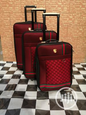 Travel Trolley Luggage Bags (3 Sets) Red Color | Bags for sale in Lagos State, Ikeja