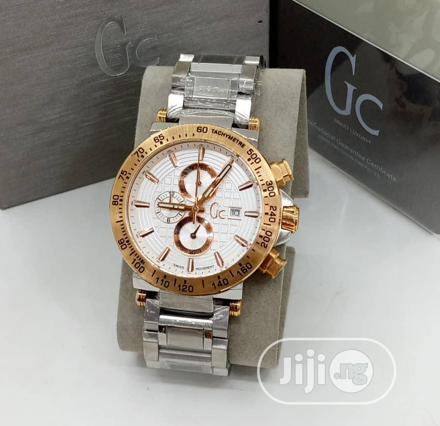 Guess Collection (GC) Chronograph Rose Gold/Silver Chain Watch