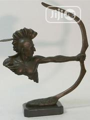 Desktop Indian Archer 100% Solid Bronze Sculpture Marble Base Figurine | Arts & Crafts for sale in Lagos State, Lekki Phase 2