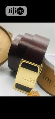 Original Calvin Klein Pure Leather Belt Brown | Clothing Accessories for sale in Lagos State, Surulere