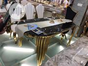 Executive Golden Glass Dining Table | Furniture for sale in Lagos State, Ojo