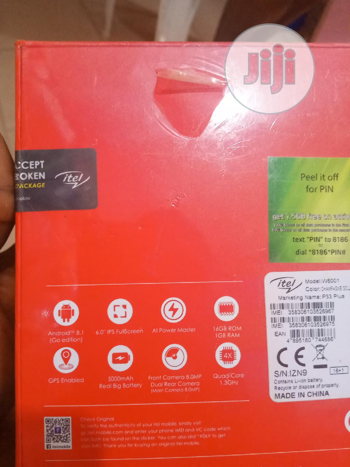 New Itel P33 Plus 16 GB | Mobile Phones for sale in Okigwe, Imo State, Nigeria