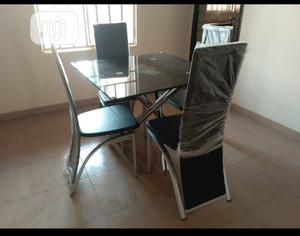 Glass Dinning Table With 4 Chairs | Furniture for sale in Kwara State, Ilorin East