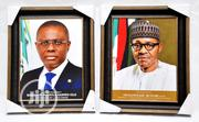 Buy Official Portrait Frames Of Gov Sanwo-olu And Pres | Arts & Crafts for sale in Lagos State, Isolo