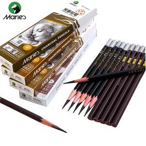 Maries Soft Medium Hard Black Sketch Charcoal Pencil 4 Sketchng Drawng | Arts & Crafts for sale in Lagos State, Lagos Island (Eko)