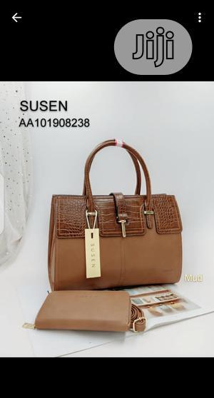 Susan Ladies Brown Leather Handbag   Bags for sale in Lagos State, Amuwo-Odofin