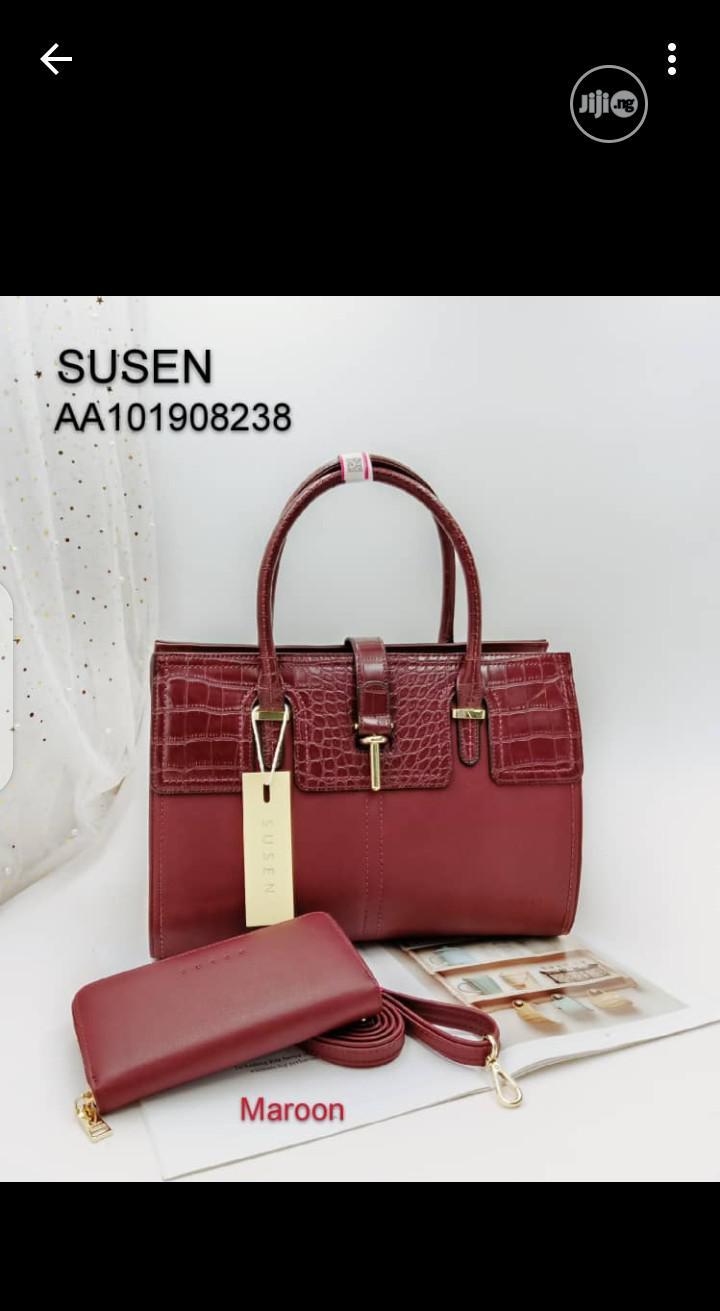 Classic Susan Ladies Red Handbag