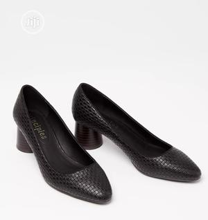 Black Woven Low Block Heel Court Shoe | Shoes for sale in Lagos State, Surulere