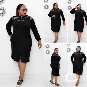 Turkey Female Black Zip Down Dress   Clothing for sale in Lagos State, Amuwo-Odofin
