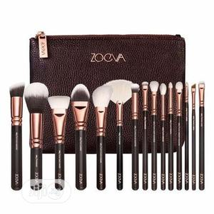 Zoeva Rose Golden 15-piece Brush Set + Clutch Purse | Bags for sale in Lagos State, Ojo