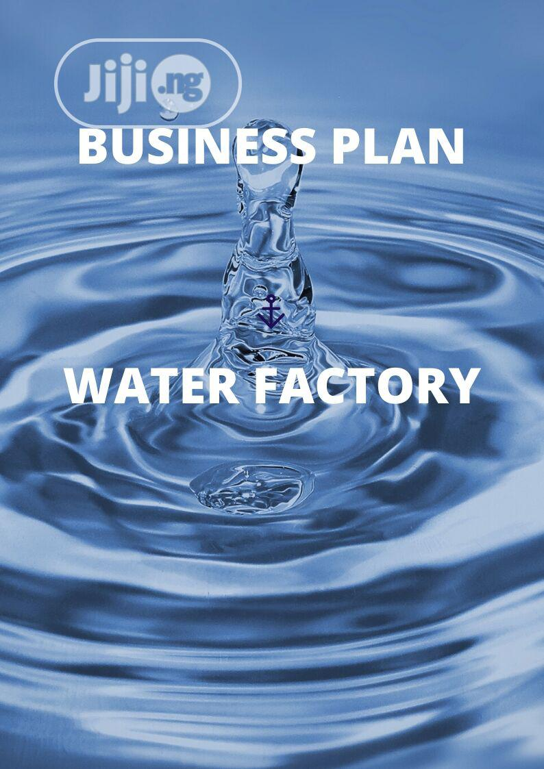 Archive: Business Plan For Water Factory