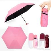 Anti-uv Folding Capsule Umbrella With Case - Pink | Clothing Accessories for sale in Lagos State, Surulere