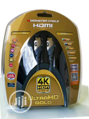 Monster Cable 4K HDR Ultra HD Gold 60hz 21.0gbps 6ft HDMI | Accessories & Supplies for Electronics for sale in Lagos State, Ikeja