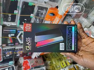 iPhone X, 11pro -Tinted Privacy Full Tempered Glass Screen Protector | Accessories for Mobile Phones & Tablets for sale in Lagos State, Ikeja