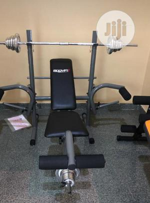 Weight Lifting Bench With 50kg Dumbbell Weight   Sports Equipment for sale in Lagos State, Ikeja