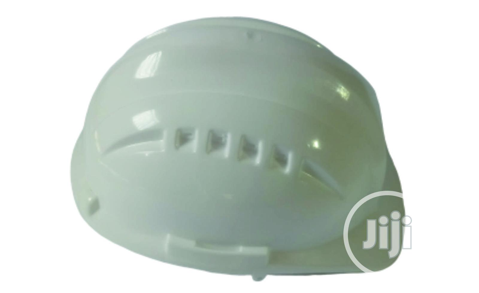 Archive: Vaultex White Safety Helmet With Vent & Pinlock Suspension