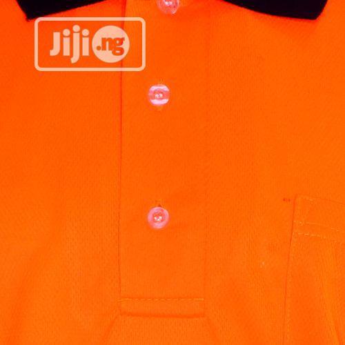 Archive: Vaultex Reflective Polo T-Shirt - Orange Dark Blue
