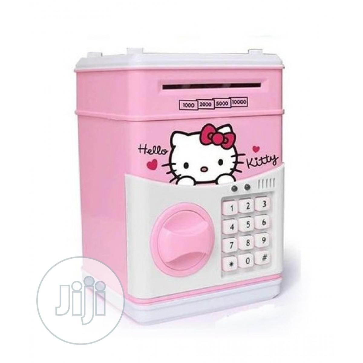 Electronic Atm Piggy Bank Money Safe Box For Kids - Pink