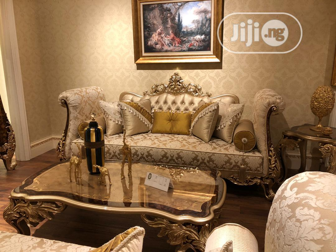Archive: Executive Royal Sofas Chair,With Dining Table Full Set.