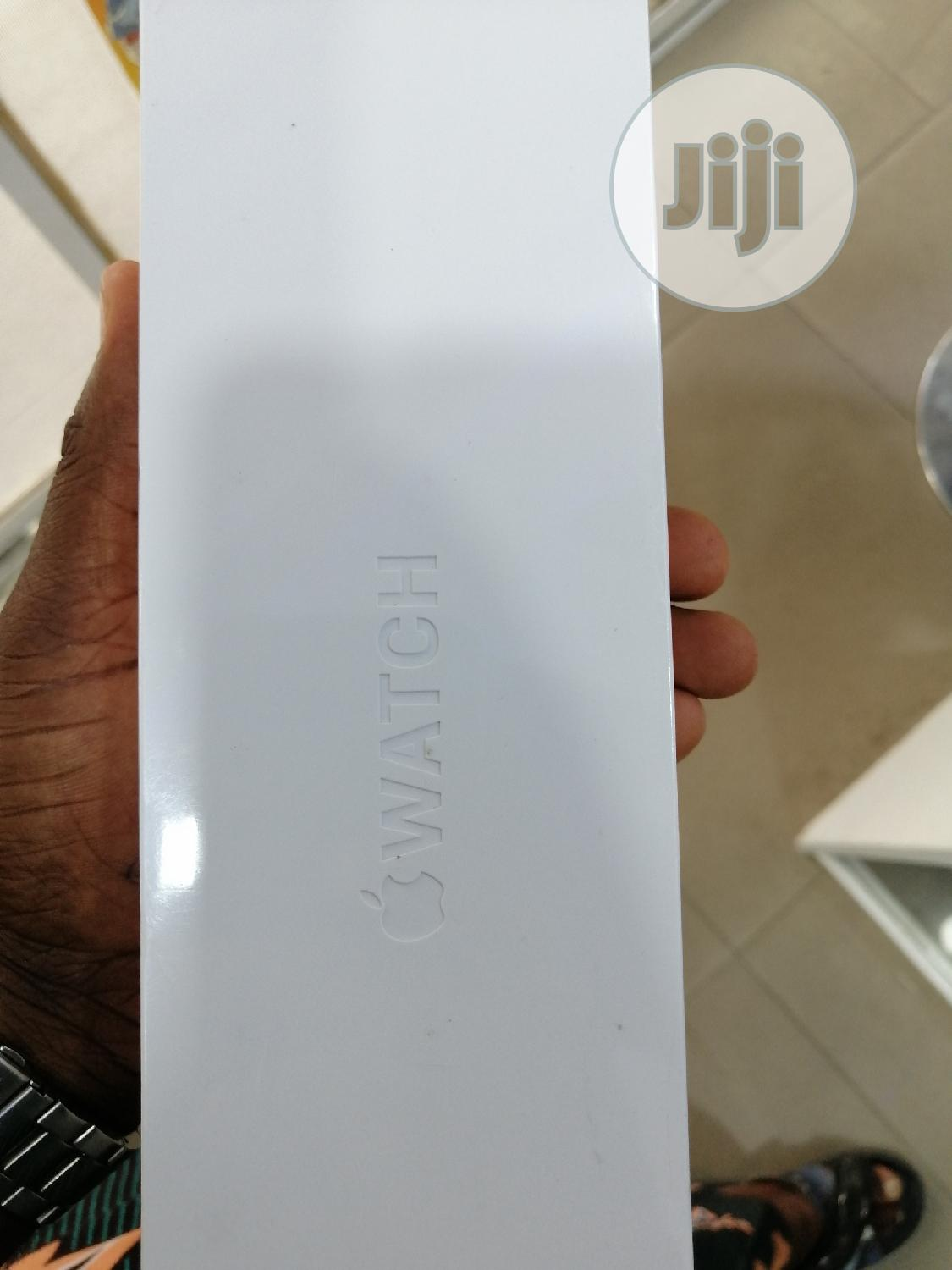 Apple Watch Series 5 44mm Gps +Cellular Black Stainless Steel Sport B   Smart Watches & Trackers for sale in Ikeja, Lagos State, Nigeria