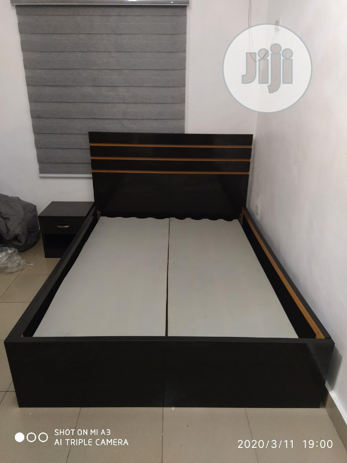 Bedframe 41/2 By 6ft With 2side Drawers   Furniture for sale in Oshodi, Lagos State, Nigeria