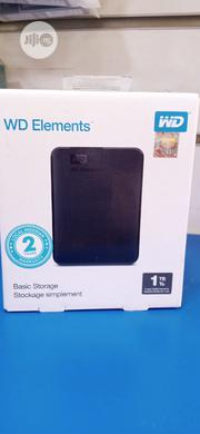 Western Digital WD 1TB WD Elements Portable USB 3.0 Hard Drive   Computer Hardware for sale in Lagos State, Ikeja