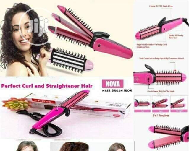 2 in 1 Nova Hair Curler and Straightener