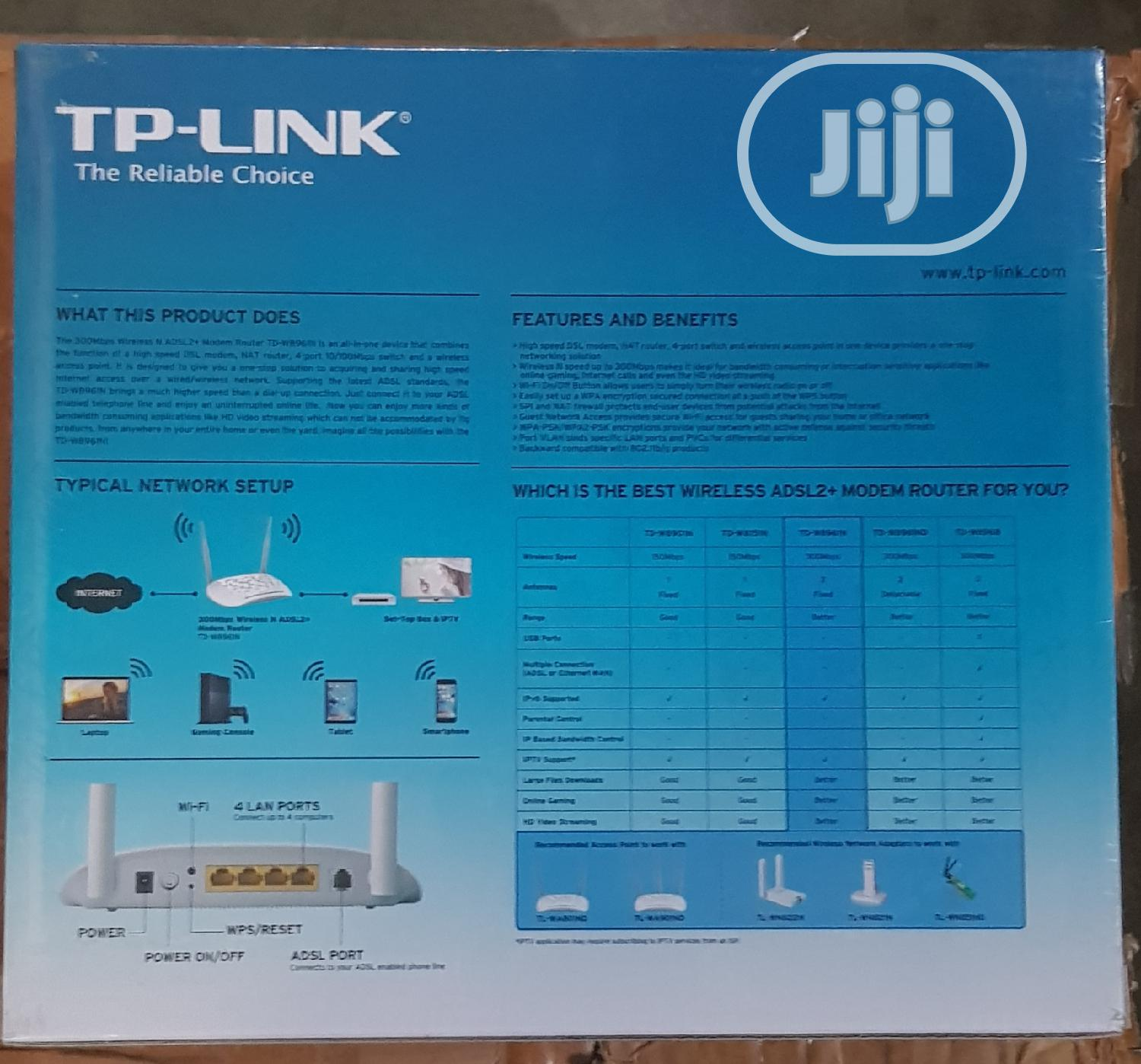 Tp-link 300 Mbps Wireless Modem Router TD-W8961N   Networking Products for sale in Ikeja, Lagos State, Nigeria