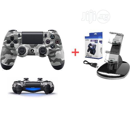 Ps4 Controller Pad-Black + Wireless Charger