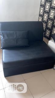 Black 2 Seater Sofa   Furniture for sale in Lagos State, Lekki Phase 1