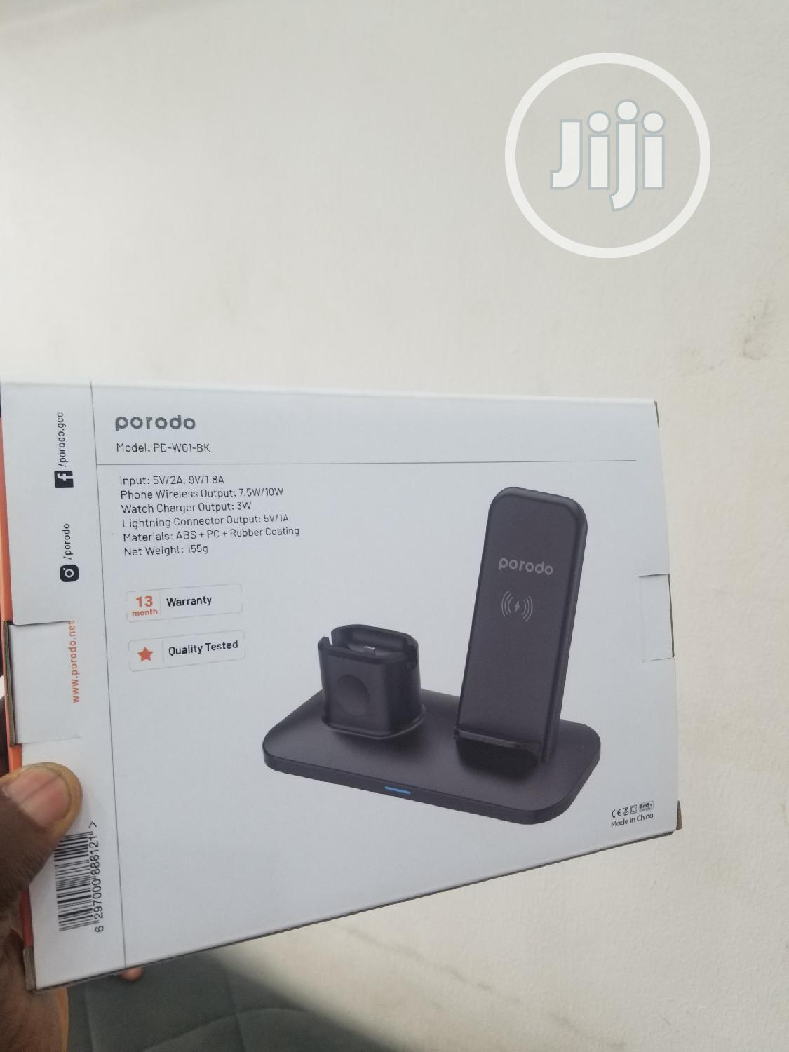 Porodo 3 In 1 Charging Station | Accessories for Mobile Phones & Tablets for sale in Lekki Phase 1, Lagos State, Nigeria