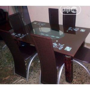Classic Glass Top Dining Table(421)   Furniture for sale in Lagos State, Maryland