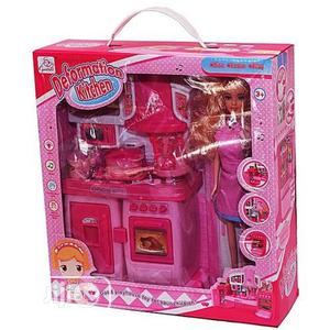 Generic Children Deformation Kitchen Set With Light/Music - Pink   Toys for sale in Lagos State, Amuwo-Odofin