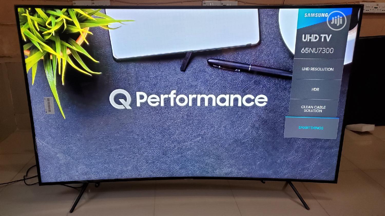 Samsun UE65NU7300 65inch Curved 4K Ultra HD Certified HDR Smart 2018 | TV & DVD Equipment for sale in Victoria Island, Lagos State, Nigeria