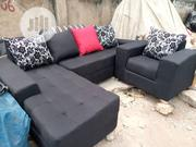Fabric L-Shaped Sofa With Throw Pillows | Home Accessories for sale in Lagos State, Ikeja