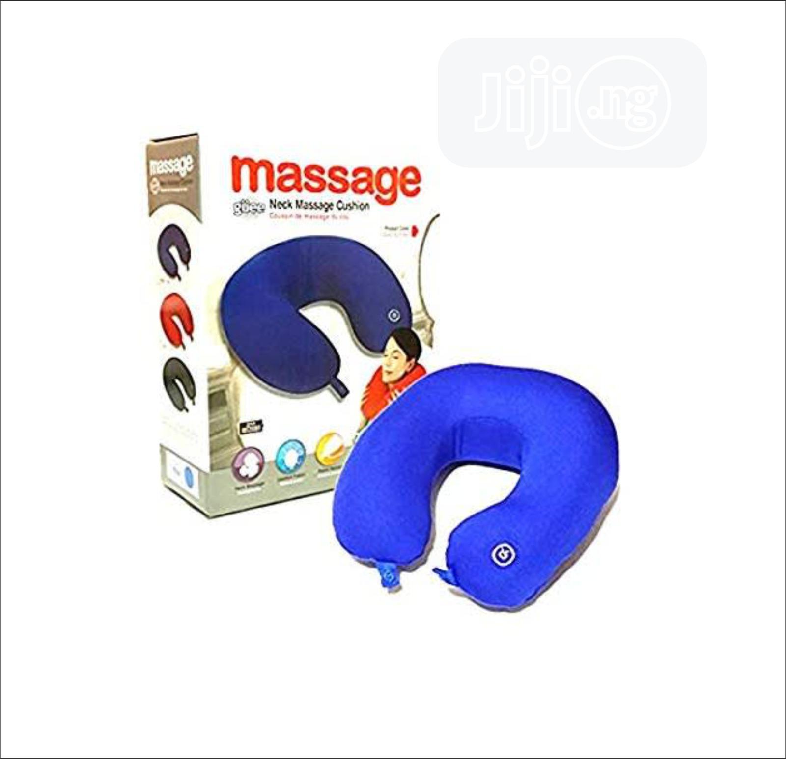 Archive: Vibrating Neck Massage Pillow - Blue