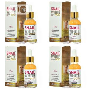 Snail White Gold Serum Super Active X10 Whitening Anti Aging - 30ml | Vitamins & Supplements for sale in Abia State, Osisioma Ngwa