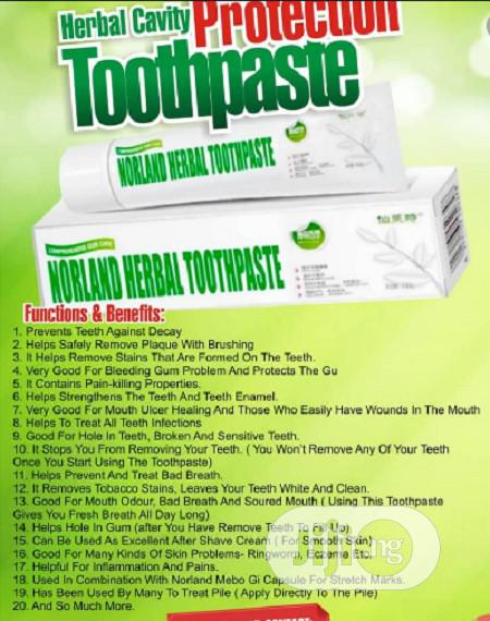 Are You Struggling With Mouth Odour? Buy Norland Herbal Toothpaste